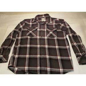 Dickies Sz L Brown L/S  Button Flannel